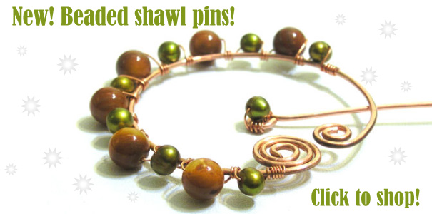New beaded shawl pins - Click to shop!